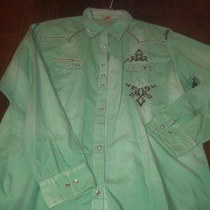 Light green western shirt